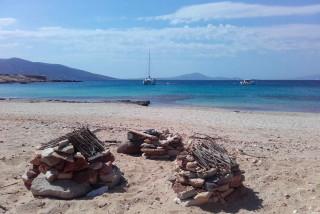 Alyko beach st George Naxos island